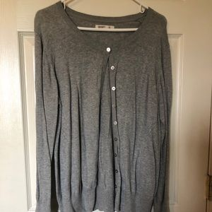 Grey button up Old Navy sweater